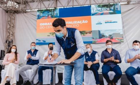 Prefeito JHC autoriza revitalização do Centro para alavancar comércio de Maceió