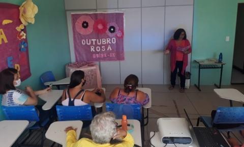 Grupo de mulheres do Cras Área Lagunar participam de ação do Outubro Rosa